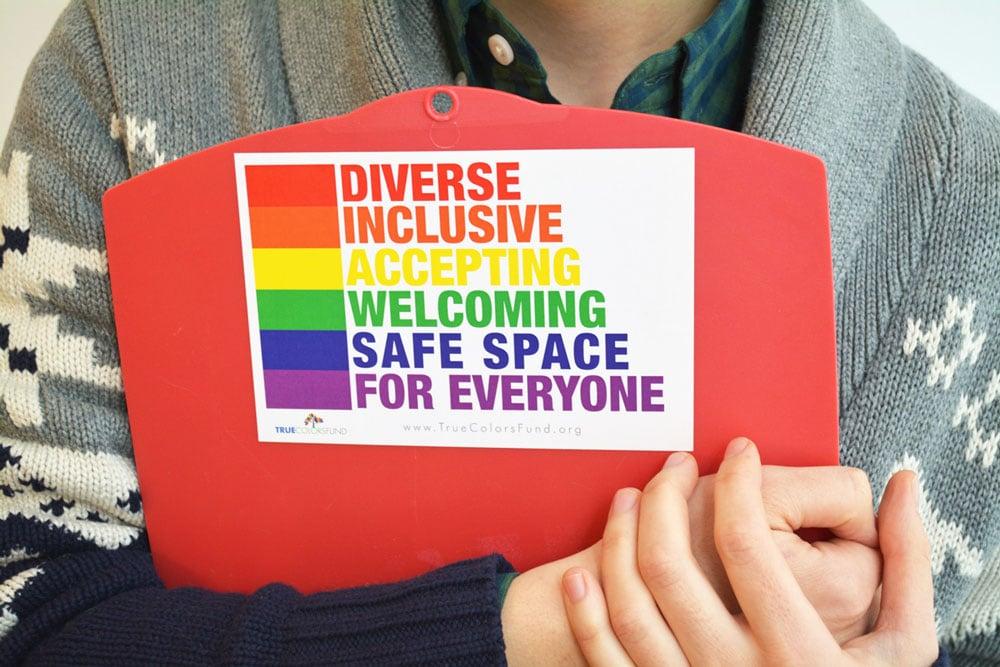 True Colors Fund's safe space sticker